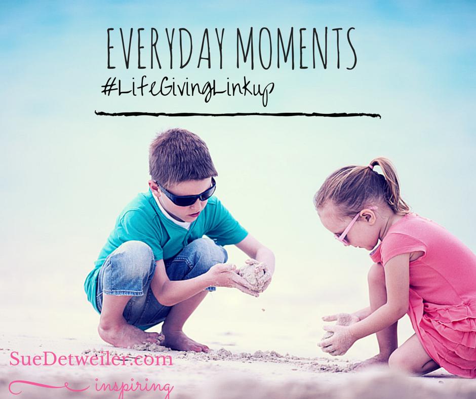 Everyday Moments  – Sue Detweiler – #LifeGivingLinkup