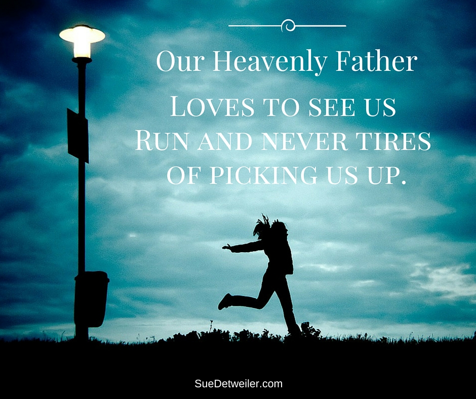 God Never Tires of Picking Us Up