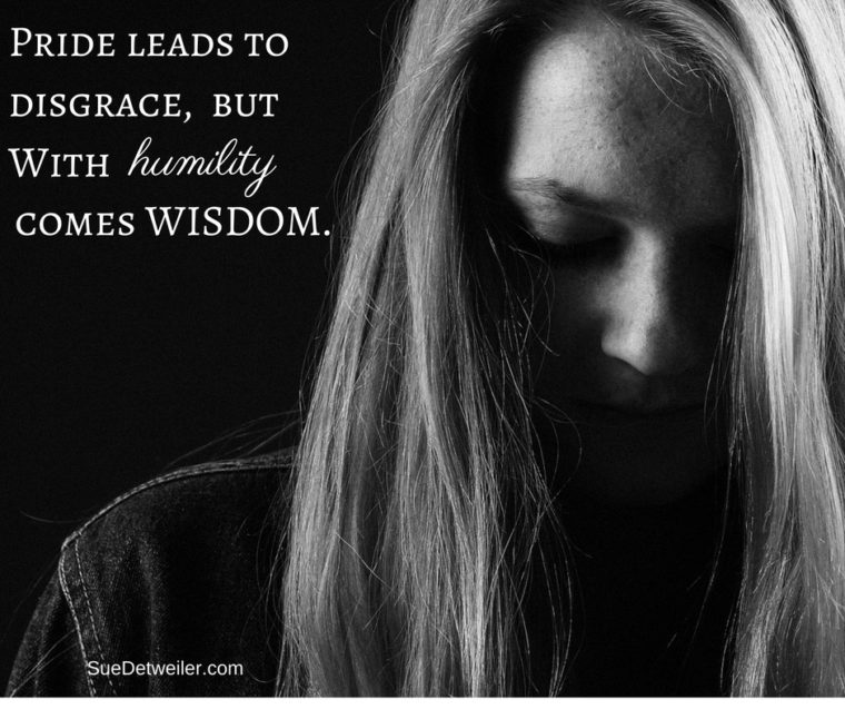 Pride leads to disgrace,